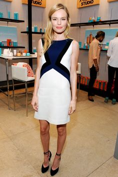 Kate Bosworth wore an Emilio Pucci dress with Bionda Castana heels.