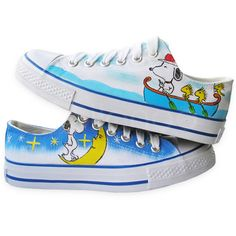 Not Flip Flops but they deserve the pin to the feet fun for sure~  snoopy sneakers!  I would so wear these :) What is not to love about Snoopy?