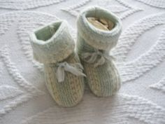 Vintage Knitted Baby Booties @ Vintage Touch $3.50