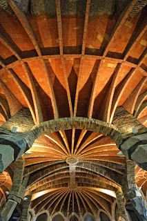 Church of Colonia Guell Antoni Gaudi Barcelona Architecture, Futuristic Architecture, Ceiling Texture, Textured Ceiling, Art Nouveau, Antonio Gaudi, Magnum Opus, Spain, Cathedrals