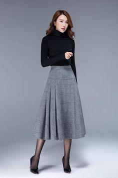 6eb778a857 Tartan skirt wool skirt high waisted skirt fitted skirt
