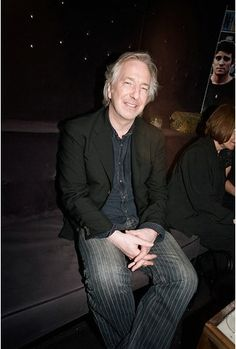 """April 28, 2007 - Alan Rickman and Rima Horton at the """"Nobel Son"""" after party in New York City."""