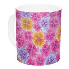 East Urban Home My Garden by Julia Grifol 11 oz. Ceramic Coffee Mug