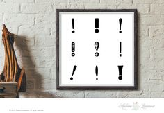 Printable Art Exclamation art Typographic art by thepariswife
