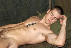 Nude gay military man