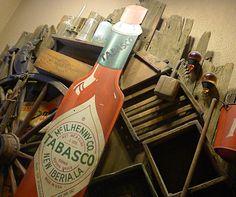 Inside the Tabasco hot sauce factory on Avery Island. #chilisauce