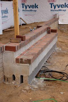 How to build a brick step