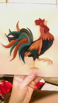 *QUILLING ~ Quilled rooster