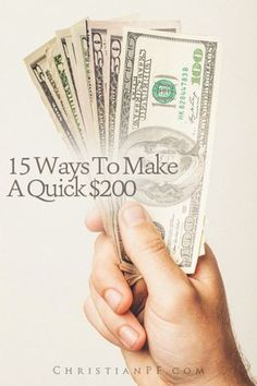 If you are needing to make some cash quickly, here are some ideas to get your brain spinning - and if you have any other money making ideas share them in the comments!