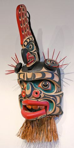 Komokwa • Chief of the Undersea World Mask by Tom D. Hunt, Kwakwaka'wakw artist (W30312)