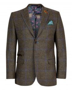 aa4b58549 Ted Baker Tightlines collection Classic fit Fly hook lapel pin badge Melton  collar stand Printed under