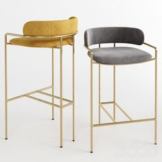 Trendy Ideas For Kitchen Bar Chairs Counter Stools West Elm Metal Chairs, Bar Chairs, Dining Chairs, Room Chairs, West Elm Bar Stools, Brass Bar Stools, Ikea Chairs, High Chairs, Upholstered Chairs