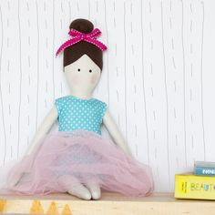 Rag doll Katie, a pretty ballerina doll. Katie is made from environment friendly materials. This adorable doll is Perfect as a gift for babies, toddlers and kids.