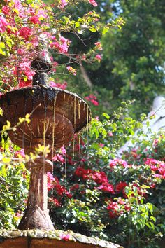 Rustic Garden Fountain