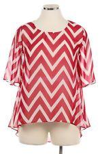 Plus Size chevron blouse - high low fashion for fall.