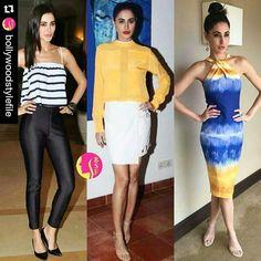 Vote 1...3? Which look of Nargis Fakhri you liked more from latest Azhar promotions @BOLLYWOODSTYLEFILE  .  #bollywoodstylefile #bollywood #stylefile #india #indian #indianfashion #indianstyle #bollywoodstyle #mbcbollywood #instabollywood #summer #stripes #easychic #ootd #azhar #hmindia #delhi #noida #gurgaon #chandigarh #hyderabad #surat #pune #bangalore #kolkata #chennai #cochin #ahmedabad #rajkot . For more follow #BollywoodScope and visit http://bit.ly/1pb34Kz