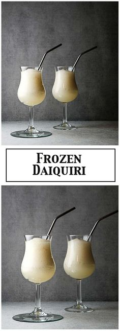 The Classic Frozen Daiquiri - rum, simple syrup, lime juice and ice.