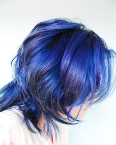 Dont usually like blue hair, but this one has nice dimension to it with the lowlights and hint of purple!