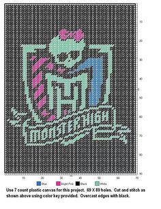 Monster high wall hanging