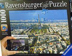 Impresionante puzzle de vista aérea de París (1000 piezas) de la marca Ravensburger.