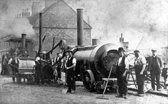 Steam rollers in Bamford Street, Tamworth Tamworth, Antique Tractors, Automobile, The Past, Engineering, Bamford, Rollers, Antiques, Track