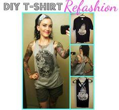 Lulu & Sweet Pea: No sew DIY T-shirt to tank tutorial