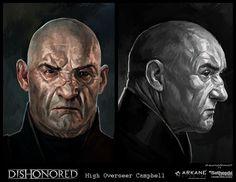 Dishonored-Overseer, Cedric  Peyravernay on ArtStation at https://www.artstation.com/artwork/dishonored-overseer