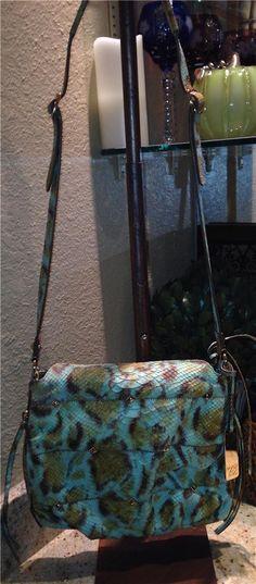 Auth $350 Botkier Maddie Green Multi Reptile Stud Cross Body Shoulder Bag Purse | eBay