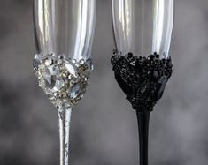 Wedding Handmade Champagne Glasses from the by DiAmoreDS on Etsy