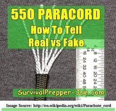 550 Paracord – How To Spot Fake Cord - survivalprepper-joe.com