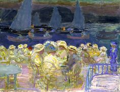 Pierre Bonnard, Evening at the Uhlenhorster Ferry, 1913