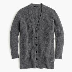 J.Crew+-+Stretch+bouclé+cardigan+sweater