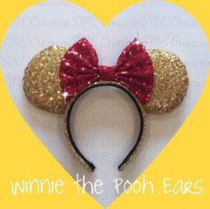 Winnie the Pooh Ears by yosabrinamarie on Etsy