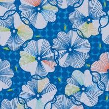 Brilliant+Blue+Floral+Cotton+Print