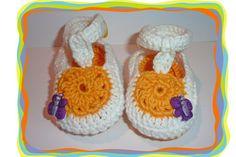 ♥ Baby Sandalen mit Schmetterling♥  von Sternen - Welt auf DaWanda.com