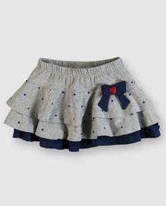 faldas para niña - Buscar con Google Little Girl Skirts, Skirts For Kids, Little Girl Dresses, Little Girl Fashion, Toddler Fashion, Kids Fashion, Baby Skirt, Ruffle Skirt, Baby Dress Patterns