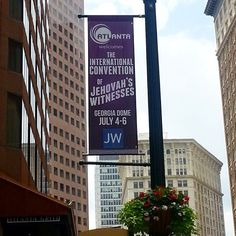 The city of Atlanta, Georgia has these banners up for the international convention.