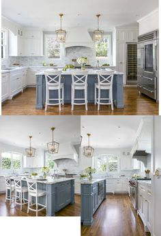 Colorful kitchen: meet 90 amazing inspirations to decorate - Home Fashion Trend Beach House Kitchens, Kitchen Family Rooms, Home Kitchens, Kitchen Colors, Kitchen Layout, Kitchen Design, Beach House Decor, Beach Houses, Home Decor