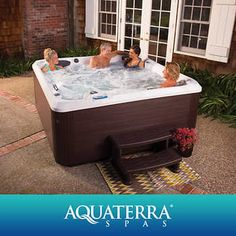 Aquaterra Spas Ventura Spa Two HP pumps Adjustable Waterfall and Ozone Water Care System Interior and Exterior LED Lighting Bluetooth Sound System: 2 speakers and subwoofer Dimensions: x x Oval Swimming Pool, Oval Pool, Outdoor Furniture Inspiration, Led Exterior Lighting, Hot Tub Gazebo, Spa Lighting, Spa Items, Waterfall Fountain, Solar Water Heater