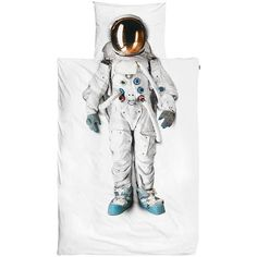BuySnurk Astronaut Single Duvet Cover and Pillowcase Set Online at johnlewis.com