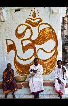Hampi Om Hampi  i like the om's textured look - looks like chalk