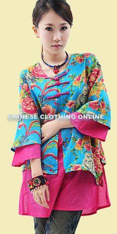 I love chinese-style clothing!