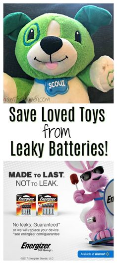 The last thing you need is a messy, leaky battery ruining your child's favorite toy or destroying your new gadget. Thankfully, Energizer's no-leak guarantee and reliable, long-lasting power keeps all your products protected, so the summer fun can keep going, and going…  Buy Energizer MAX alkaline batteries at Walmart  #MadetoLastWM  AD  http://lbx.la/y8CB