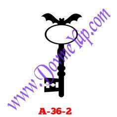 Yarasalı Anahtar Geçici Dövme Şablon Örneği Model No: A-36-2