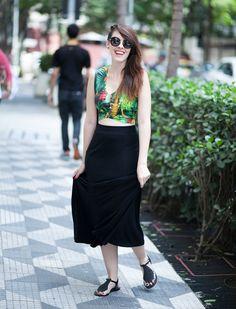 Rasteirinha e saia longa    por Karen Bachini | E ai beleza       - http://modatrade.com.br/rasteirinha-e-saia-longa