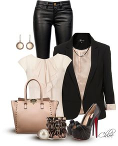 """""""Bare and Black"""" by chloe-813 on Polyvore...I am so in love with this entire outfit...think my reunion attire just changed!!"""