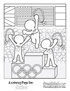 FREE Personalized Olympic Coloring Sheet - personalize with your child's name!FREE Personalized Olympic Coloring Sheet - personalize with your child's name!