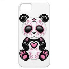 Sugar skull style Panda iPhone 5 case - never seen a panda decked out in Dia de los Muertos!