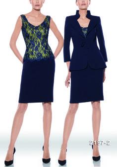 Traje de madrina modelo 2197 | colección 2014 Teresa Ripoll | cuerpo en guipour y organza de seda | falda y americana en negro