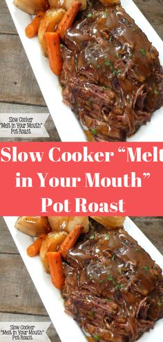 cooker mouth roast meals yummy slow melt your pot in Slow Cooker Melt in Your Mouth Pot Roast Slow Cooker Melt in Your Mouth Pot Roast MYou can find Slow cooker recipes and more on our website Pot Roast Recipes, Healthy Crockpot Recipes, Crockpot Recipes Roast Beef, Recipes Slow Cooker, Slow Cooker Meals Healthy, Healthy Pot Roast, Stewing Beef Recipes, Crock Pot Healthy, Slow Cooker Dinners